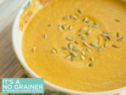 Pumpkin Ginger Soup with Toasted Pepitas