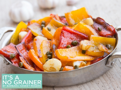 Sautéed Sweet Peppers with Toasted Garlic & Capers