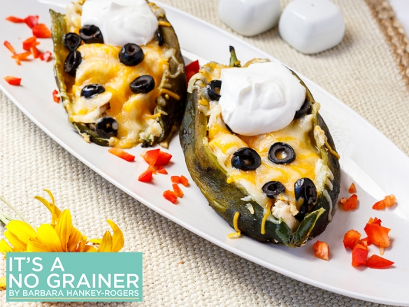 Chicken & Cheese Stuffed Anaheim Peppers