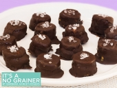 Frozen Chocolate Banana and Almond Butter Bites