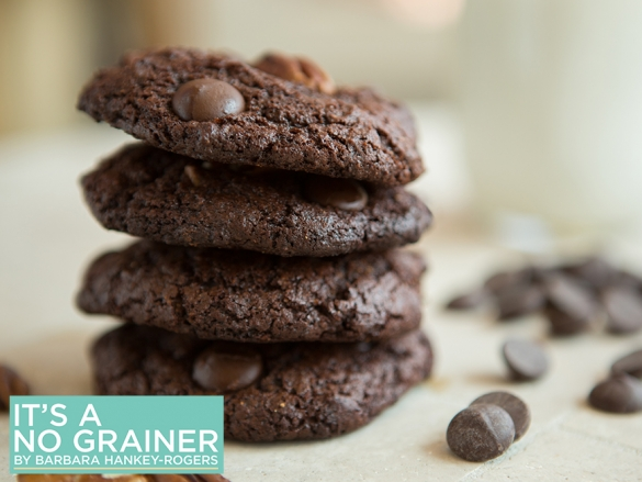 Double Chocolate Nut Cookies