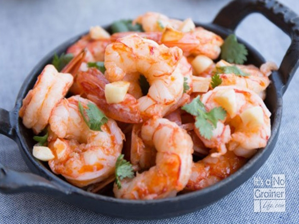 Garlic Shrimp & Coconut Rice